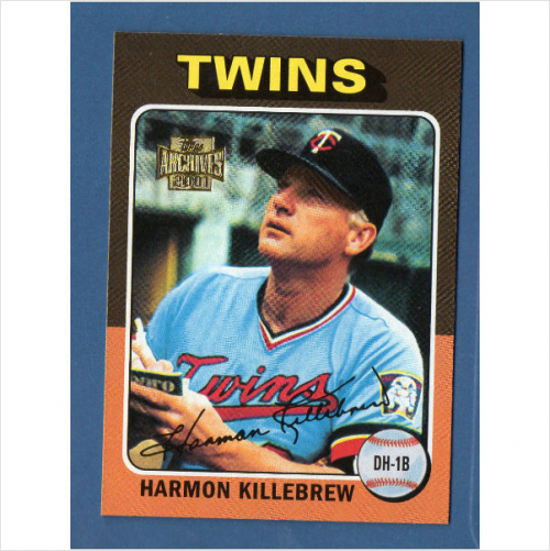 2001 Topps Archives #138 Harmon Killebrew 75