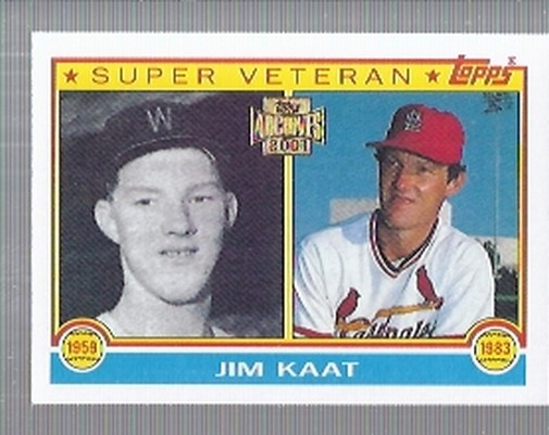 2001 Topps Archives #187 Jim Kaat 83