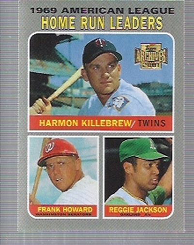 2001 Topps Archives #206 AL HR Leaders 70