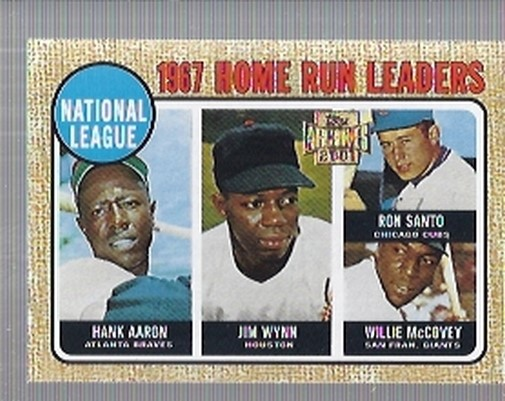 2001 Topps Archives #207 NL HR Leaders 68 front image