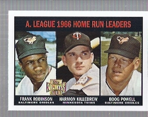 2001 Topps Archives #208 AL HR Leaders 67