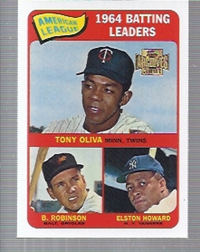 2001 Topps Archives #209 AL Batting Leaders 65