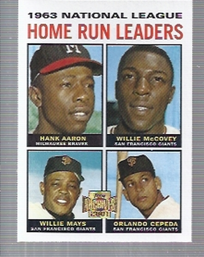 2001 Topps Archives #210 NL HR Leaders 64