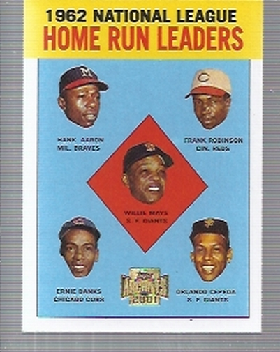 2001 Topps Archives #211 NL HR Leaders 63