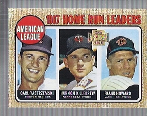2001 Topps Archives #212 AL HR Leaders 68
