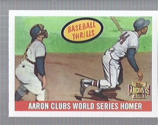 2001 Topps Archives #214 Hank Aaron 59 Thrill