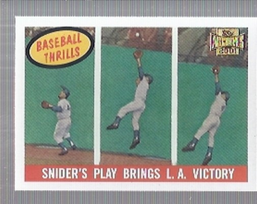 2001 Topps Archives #218 Duke Snider 59 Thrill