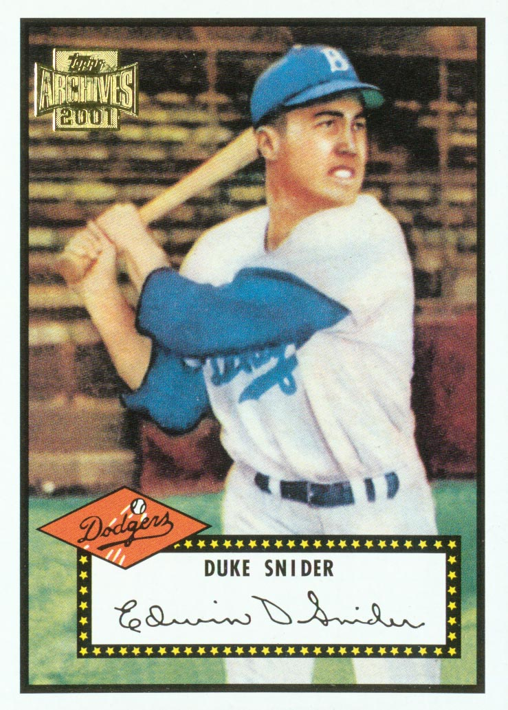2001 Topps Archives #239 Duke Snider 52