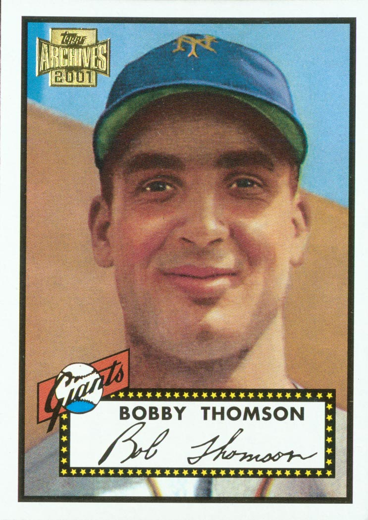 2001 Topps Archives #240 Bobby Thomson 52