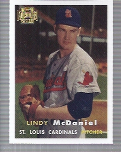 2001 Topps Archives #251 Lindy McDaniel 57
