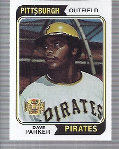 2001 Topps Archives #257 Dave Parker 74