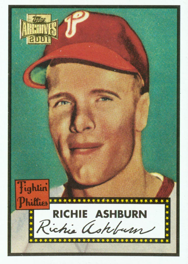 2001 Topps Archives #311 Richie Ashburn 52 front image