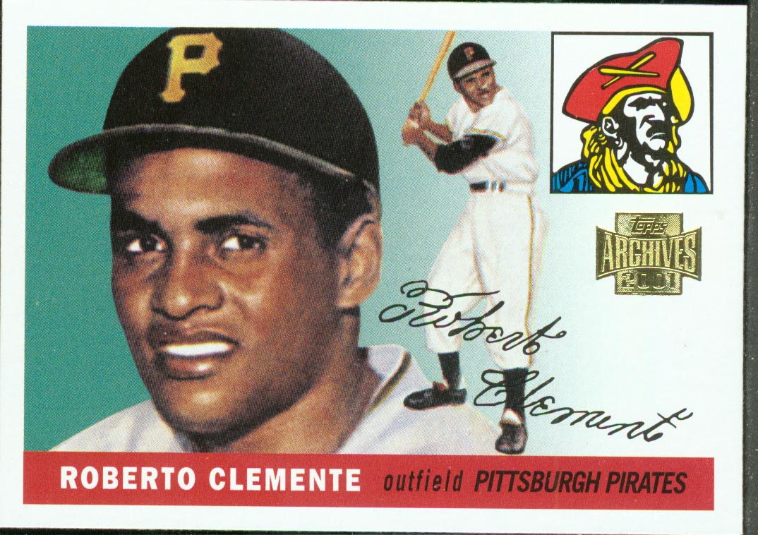 2001 Topps Archives #319 Roberto Clemente 55
