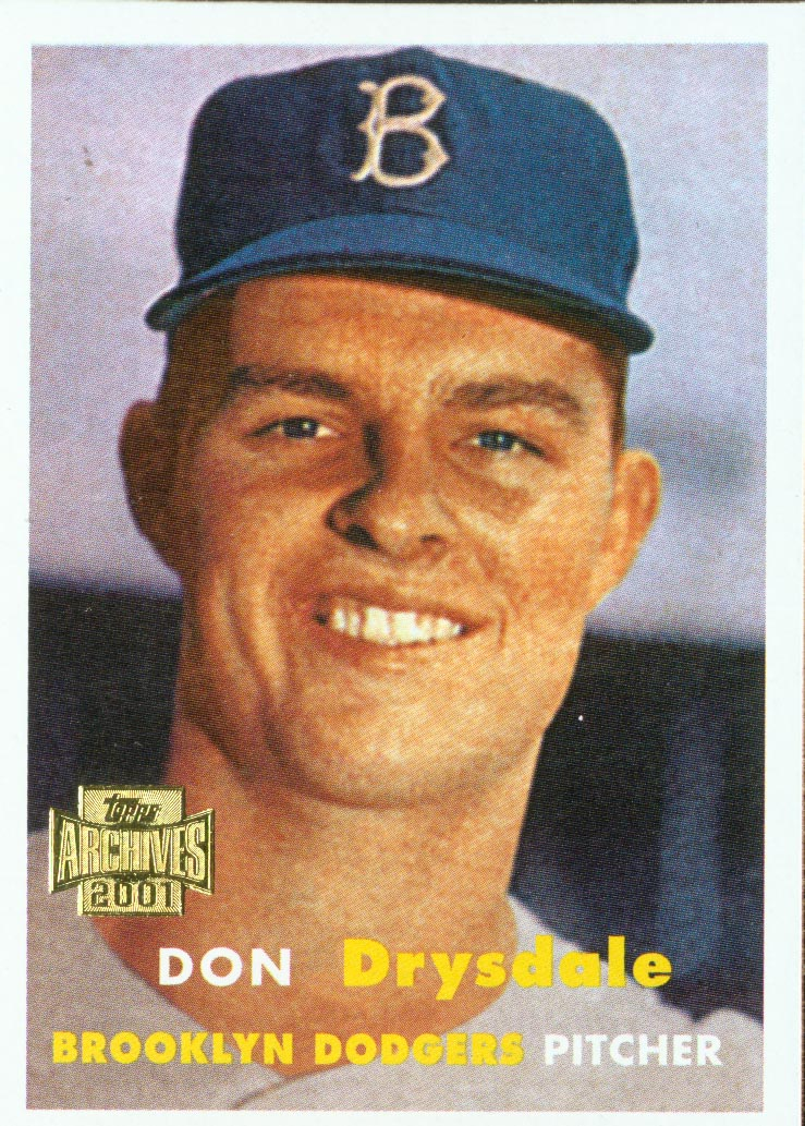 2001 Topps Archives #321 Don Drysdale 57