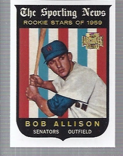 2001 Topps Archives #323 Bob Allison 59