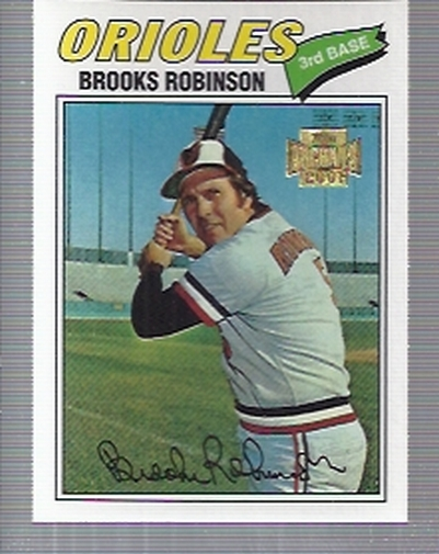 2001 Topps Archives #373 Brooks Robinson 77