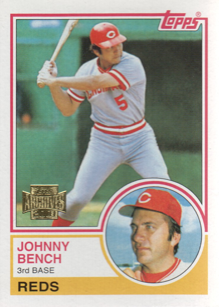 2001 Topps Archives #382 Johnny Bench 83