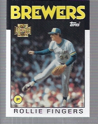 2001 Topps Archives #391 Rollie Fingers 86