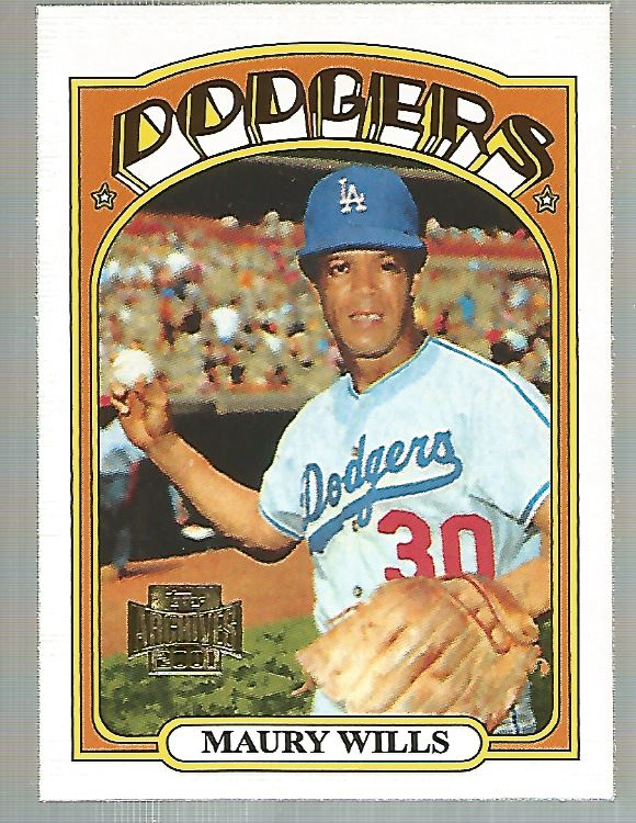 2001 Topps Archives #395 Maury Wills 72