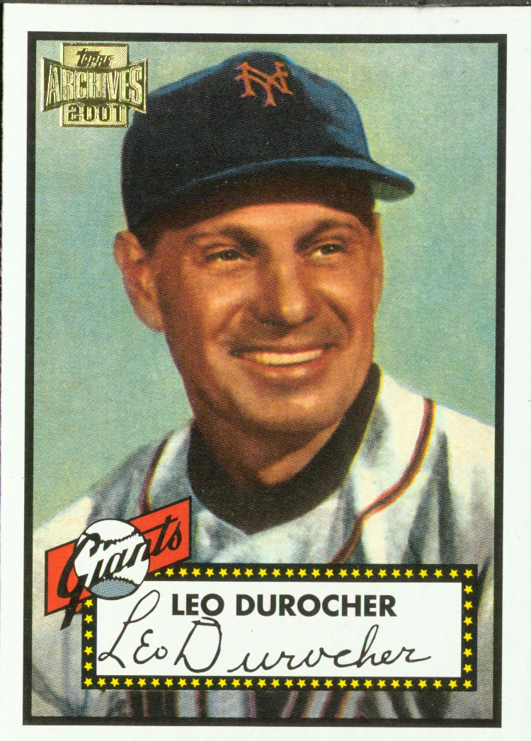 2001 Topps Archives #430 Leo Durocher MG 52 front image