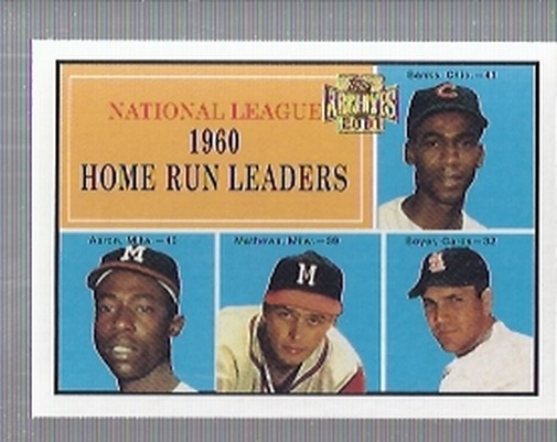 2001 Topps Archives #432 NL HR Leaders 60 front image