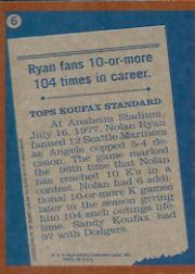 2001 Topps Archives #440 Nolan Ryan RB 78 back image