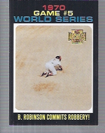 2001 Topps Archives #450 Orioles/B.Robinson WS 71