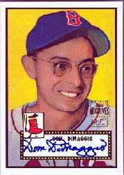 2001 Topps Archives Autographs #TAA5 Dom DiMaggio E1