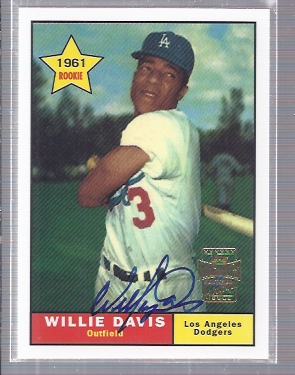 2001 Topps Archives Autographs #TAA70 Willie Davis E1