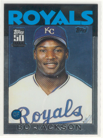 2001 Topps Chrome Traded #T119 Bo Jackson 86