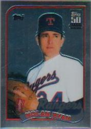 2001 Topps Chrome Traded #T134 Nolan Ryan 89