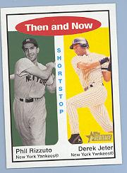 2001 Topps Heritage Then and Now #TH4 P.Rizzuto/D.Jeter