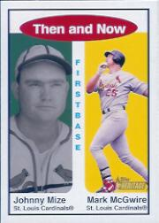 2001 Topps Heritage Then and Now #TH7 J.Mize/M.McGwire