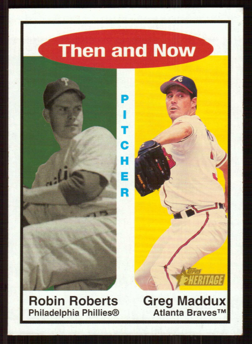 2001 Topps Heritage Then and Now #TH9 R.Roberts/G.Maddux