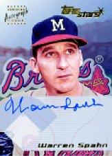 2001 Topps Stars Autographs #TSAWS Warren Spahn