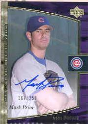 2001 Ultimate Collection #116 Mark Prior T3 AU RC