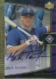 2001 Ultimate Collection #117 Mark Teixeira T3 AU RC
