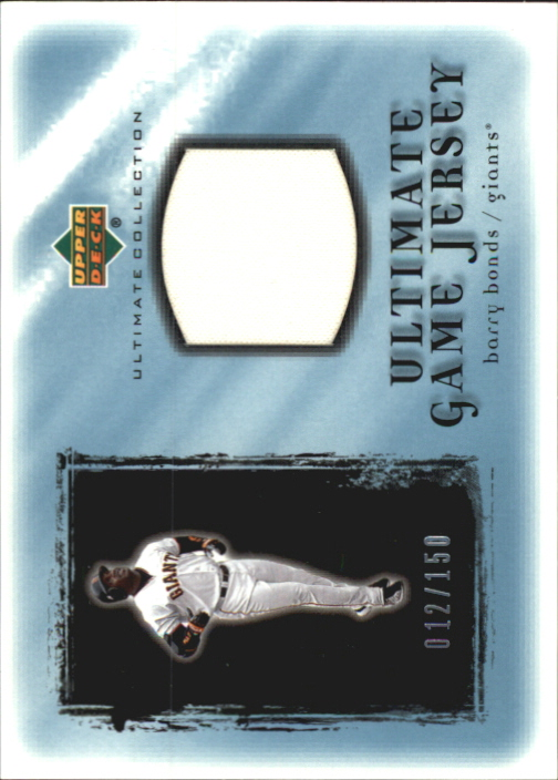 2001 Ultimate Collection Game Jersey #UBB Barry Bonds