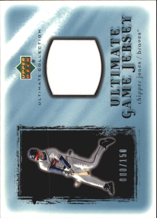 2001 Ultimate Collection Game Jersey #UCJ Chipper Jones
