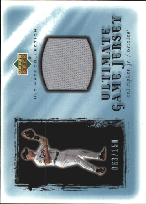 2001 Ultimate Collection Game Jersey #UCR Cal Ripken