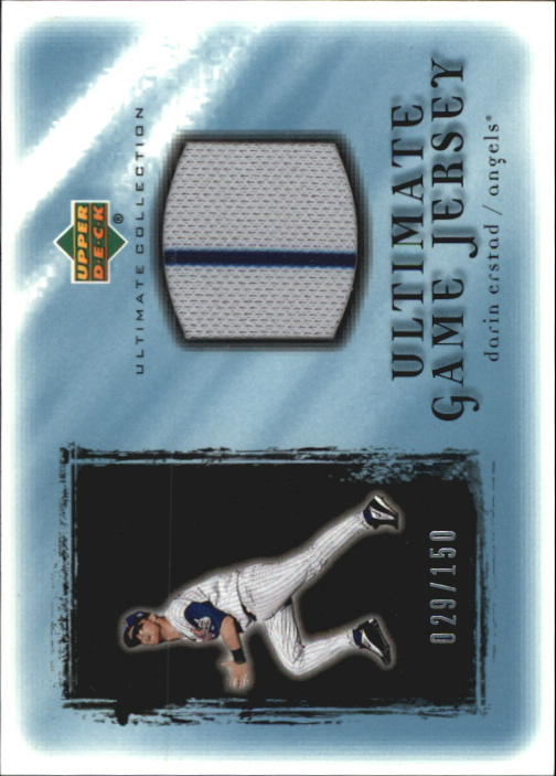 2001 Ultimate Collection Game Jersey #UDE Darin Erstad
