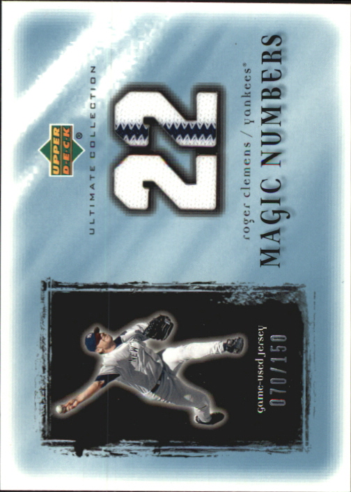 2001 Ultimate Collection Magic Numbers Game Jersey #MNRC Roger Clemens