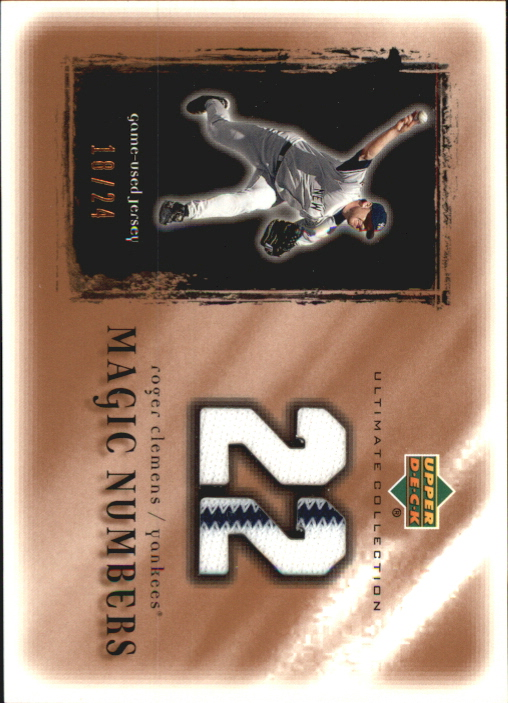 2001 Ultimate Collection Magic Numbers Game Jersey Copper #MNRC Roger Clemens