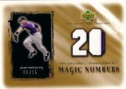 2001 Ultimate Collection Magic Numbers Game Jersey Gold #MNLG Luis Gonzalez
