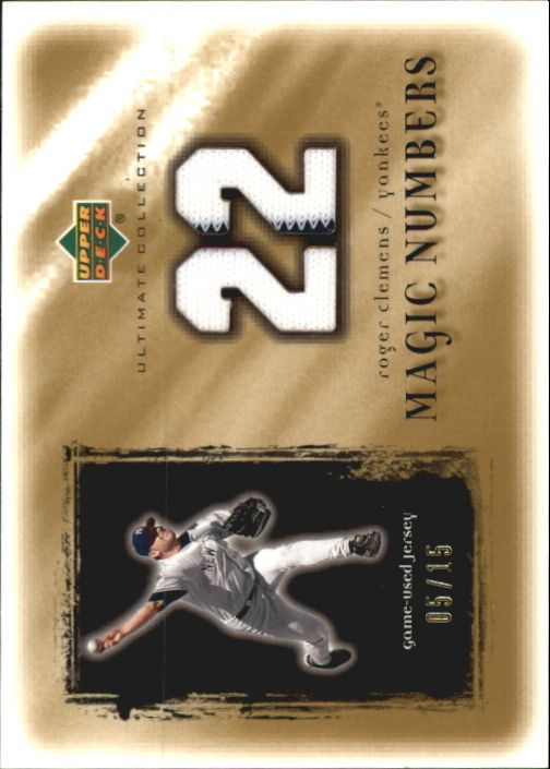 2001 Ultimate Collection Magic Numbers Game Jersey Gold #MNRC Roger Clemens