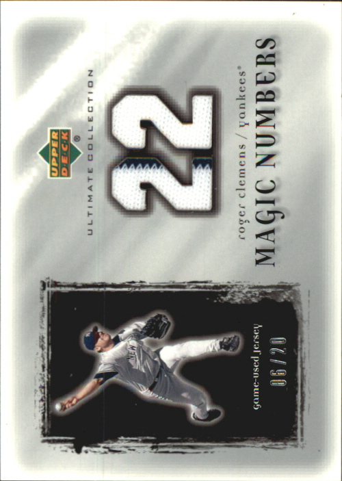 2001 Ultimate Collection Magic Numbers Game Jersey Silver #MNRC Roger Clemens