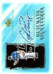 2001 Ultimate Collection Signatures #AR Alex Rodriguez