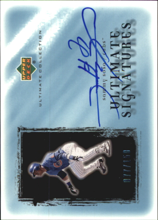 2001 Ultimate Collection Signatures #SS Sammy Sosa