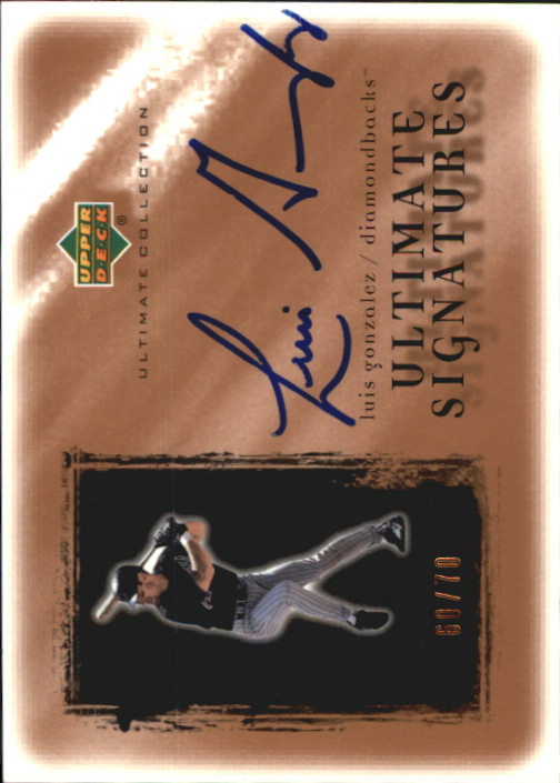 2001 Ultimate Collection Signatures Copper #LG Luis Gonzalez