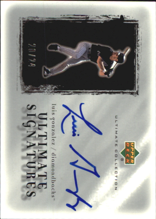 2001 Ultimate Collection Signatures Silver #LG Luis Gonzalez